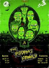 """The Addams Family"" Poster Design"