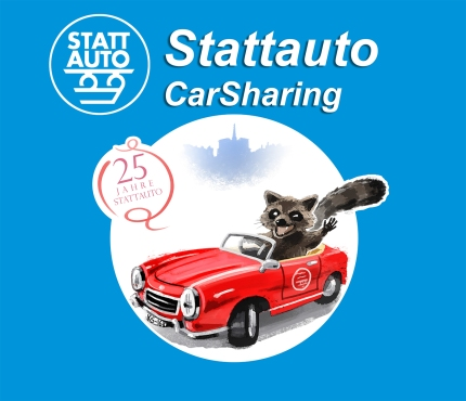 Stattauto Mascot Illustration